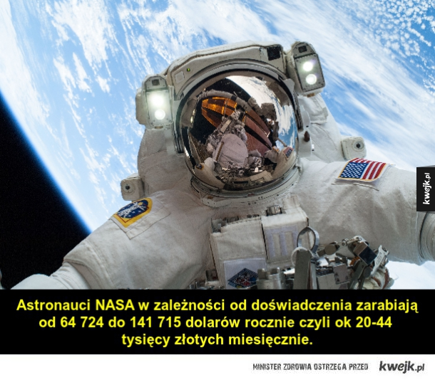 Jesteś ciekaw ile zarabiają astronauci NASA?