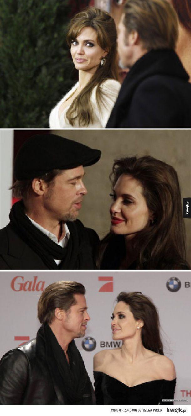 Brad Pitt i Angelina Jolie ruchają się wzrokiem