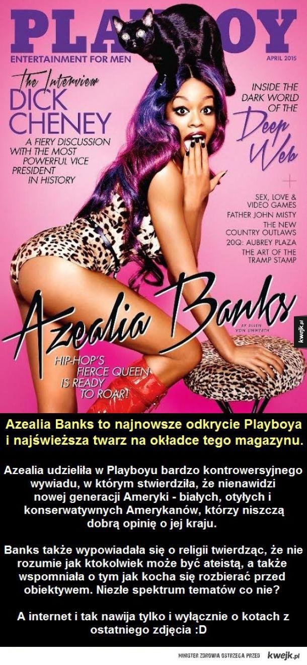 Azealia Banks - dziewczyna z najnowszego wydania Playboya