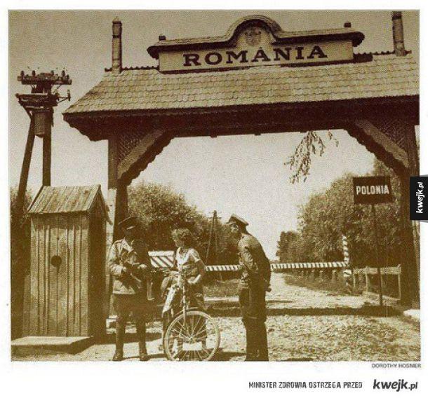 Stare zdjęcie z granicy Polsko - Rumuńskiej