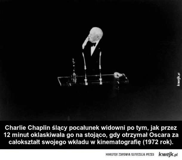 Charlie Chaplin po otrzymaniu Oscara