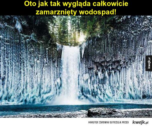 Zamarznięty wodospad