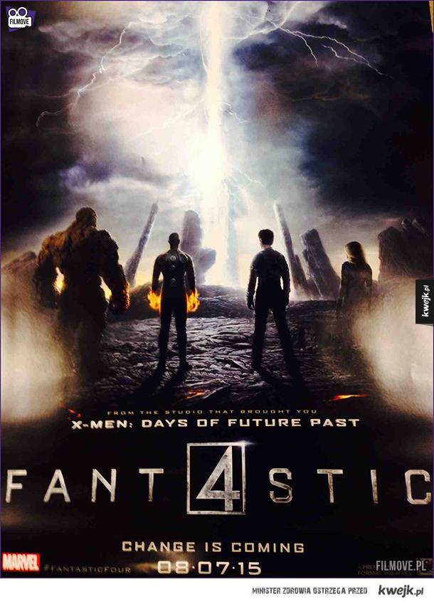 Oficjalny plakat nowej Fantastycznej Czwórki