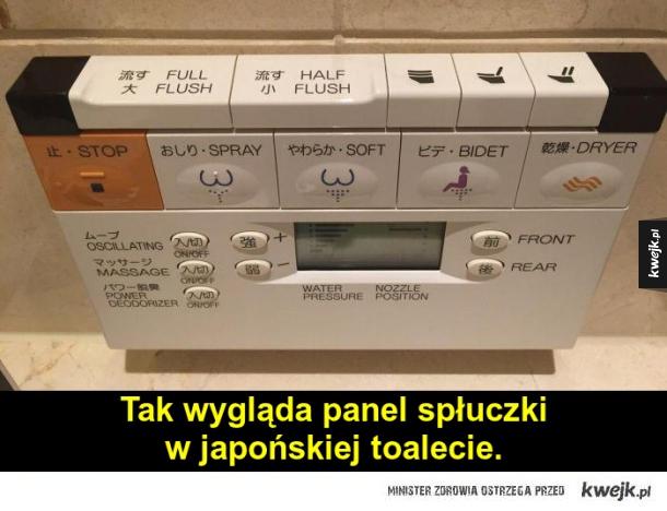 Japońskie WC ;_;