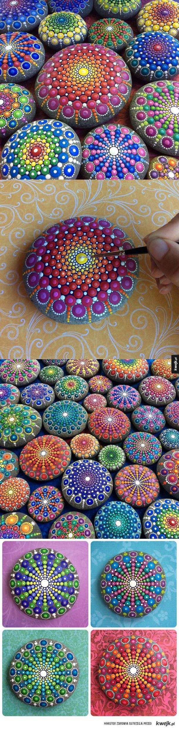 Pomalowane kamienie