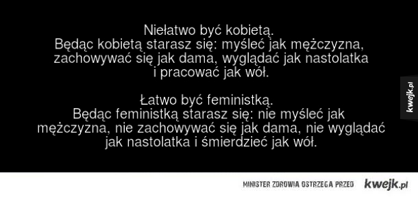Kobieta vs feministka