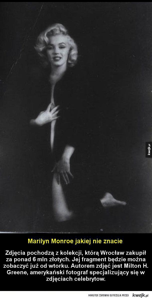Marilyn Monroe jakiej nie znacie - Zdjęcia pochodzą z kolekcją, którą Wrocław zakupił za ponad 6 mln złotych. Jej fragment będzie można zobaczyć już od wtorku. Autorem zdjęć jest Milton H. Greene, amerykański fotograf specjalizujący się w zdjęciach celebrytow