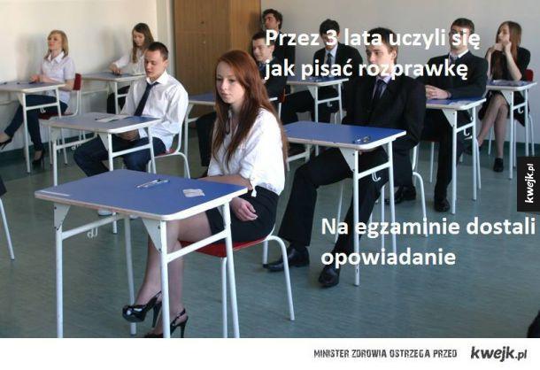 Egzamin mocno