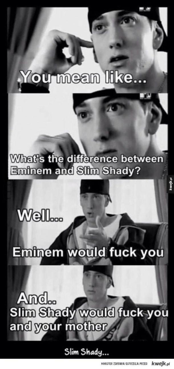 Różnica między Eminemem, a Slim Shady