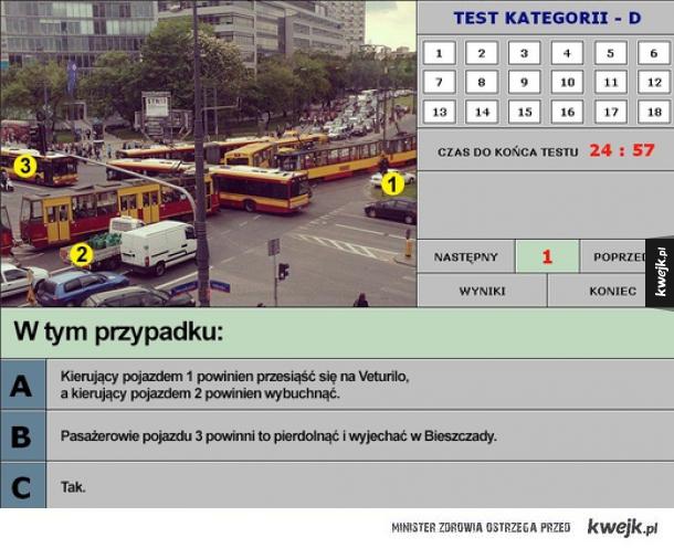 Test na prawko