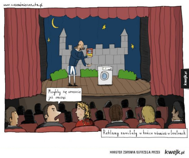 Reklamy w teatrach