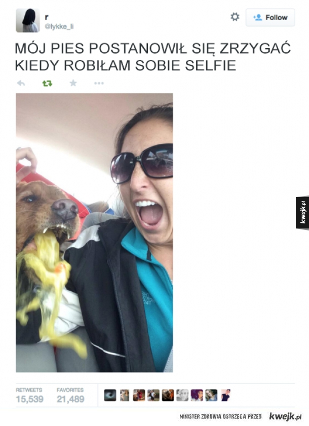 Nie lubi selfie