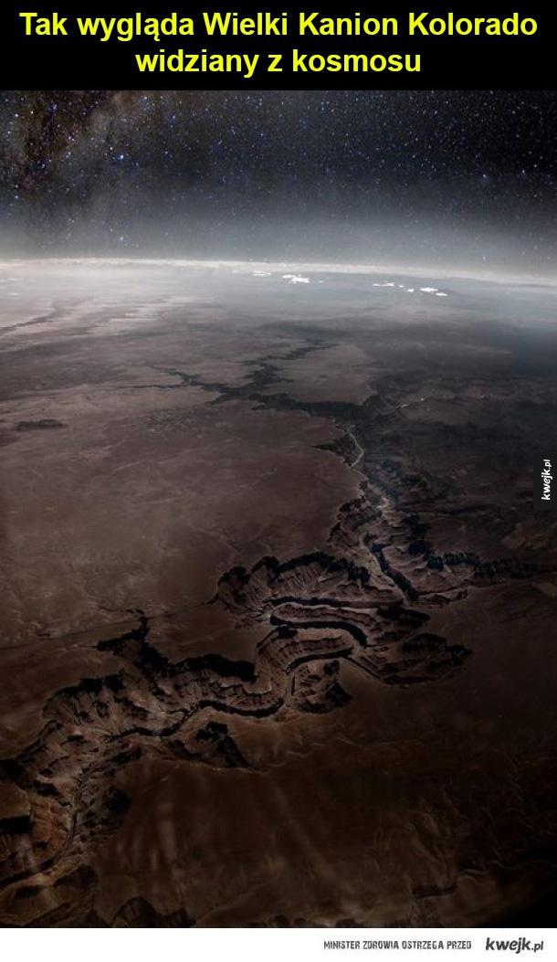 Wielki Kanion - Tak wygląda Wielki Kanion Kolorado  widziany z kosmosu