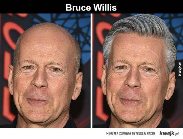 Gdyby łysi mieli włosy - Nie należy nikogo zmieniać na siłę, ale, Bruce Willis, Michael Jordan, Vin Diesel