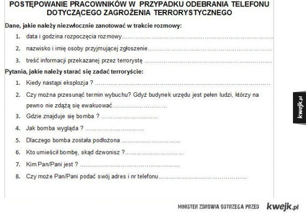 Jak postepowac z terrorystą
