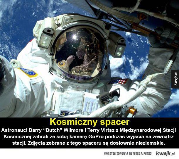 """Ale kosmos! - Kosmiczny spacer Astronauci Barry """"Butch"""" Wilmore i Terry Virtsz z Międzynarodowej Stacji Kosmicznej zabrali ze sobą kamerę GoPro podczas wyjścia na zewnątrz stacji. Zdjęcia zebrane z tego spaceru są dosłownie nieziemskie."""