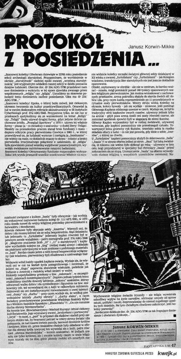 """Opowiadanie Korwina z """"Fantastyki"""""""
