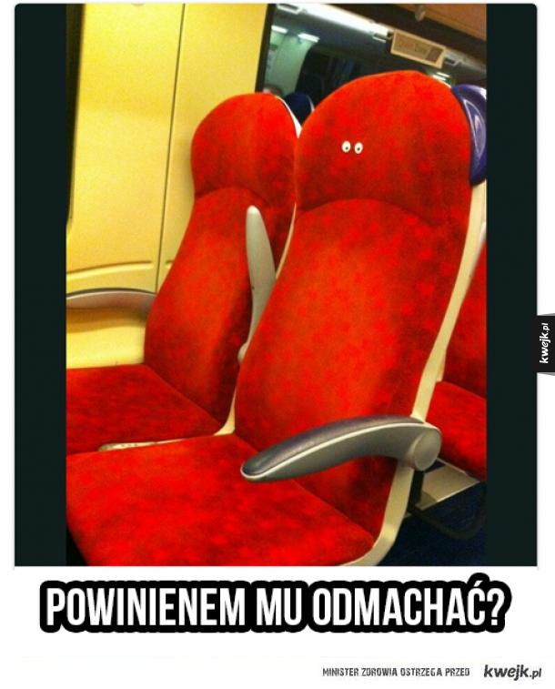 Fotel w kolejce miejskiej