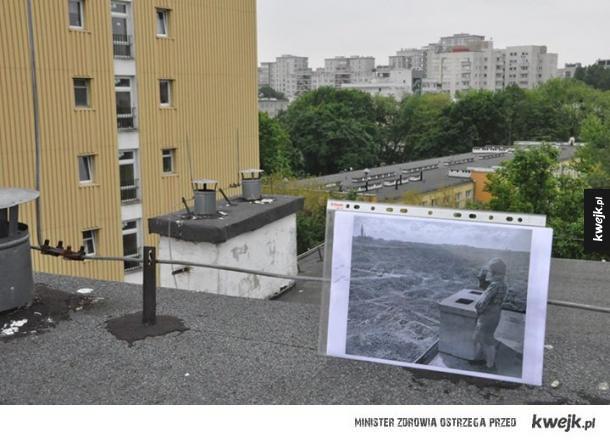 Widok z tego samego miejsca dawniej i dziś