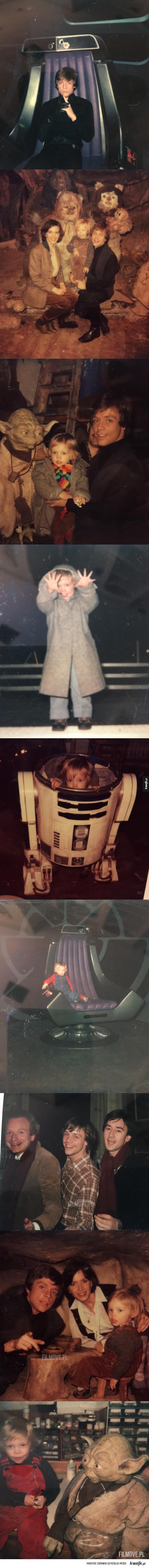 Prywatne zdjęcia Marka Hamilla z planu Gwiezdnych Wojen