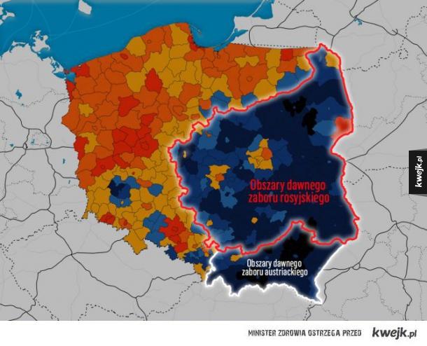 Po tylu latach wyniki wyborów pokrywają się z granicami zaborów