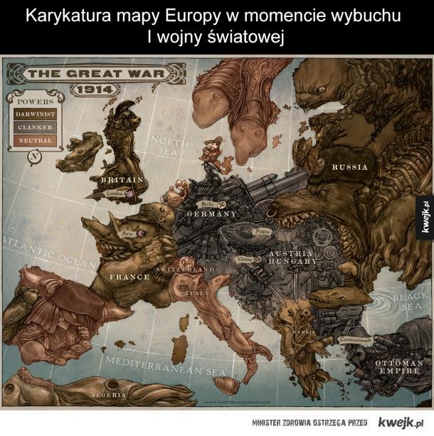 Mapa sprzed 100 lat