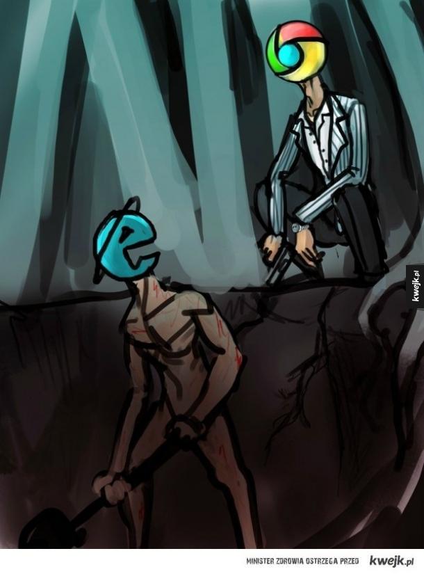 Gdy Explorer pobra Chrome