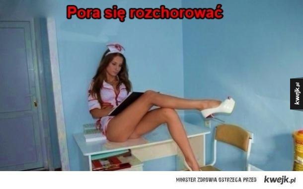 Ładna pani pielęgniarka