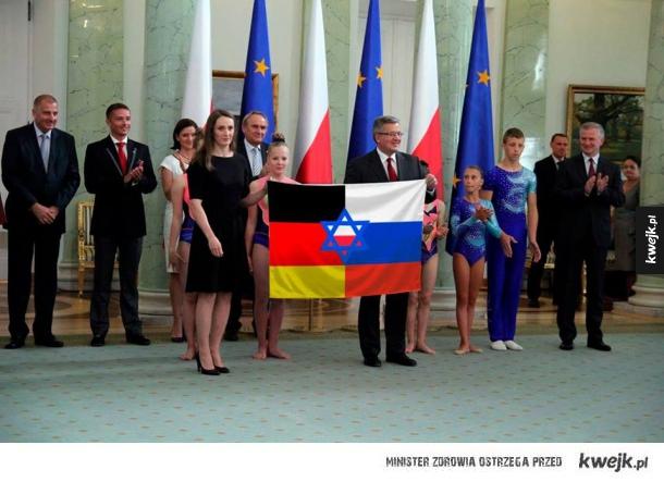 Flaga Kondominium Rosyjsko-Niemieckiego z Żydowskim zarządem powierniczym