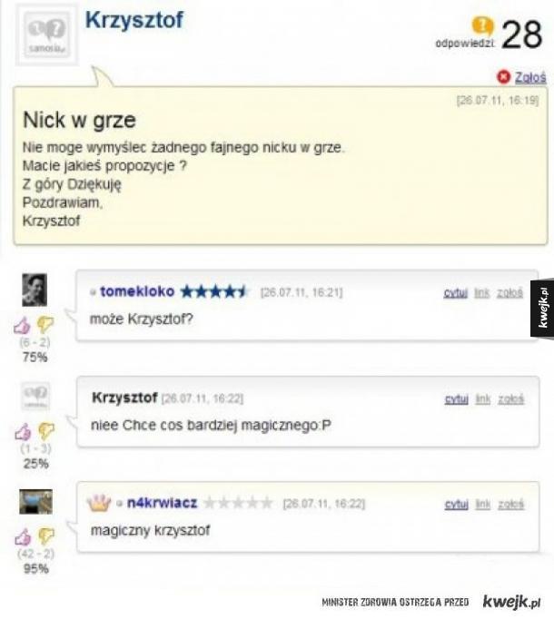 Nick w grze
