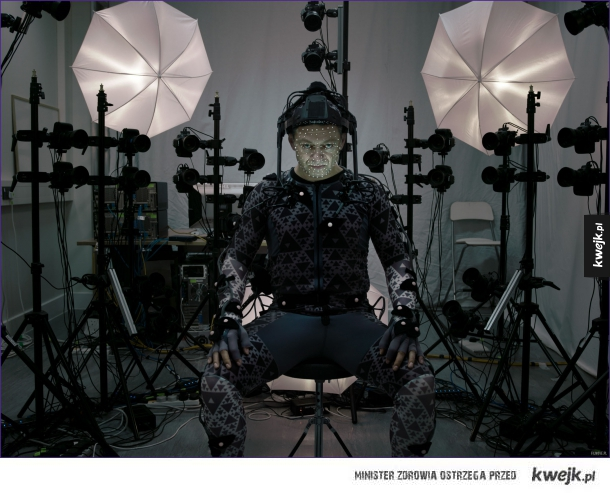 Andy Serkis na planie The Force Awakens