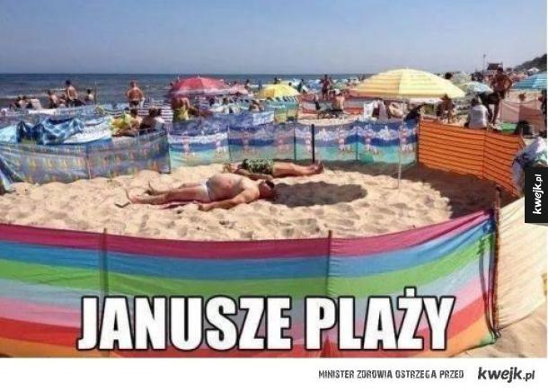 Tymczasem na polskich plażach...