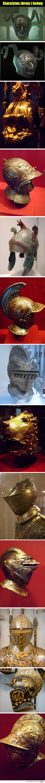 Starożytne zbroja i hełmy