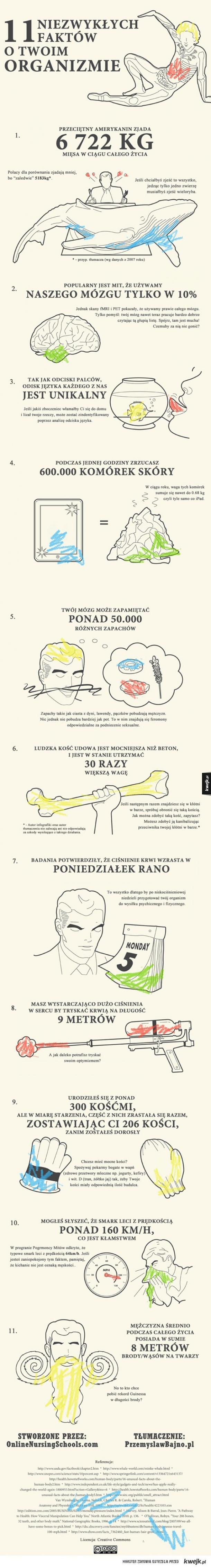 Fakty o organizmie