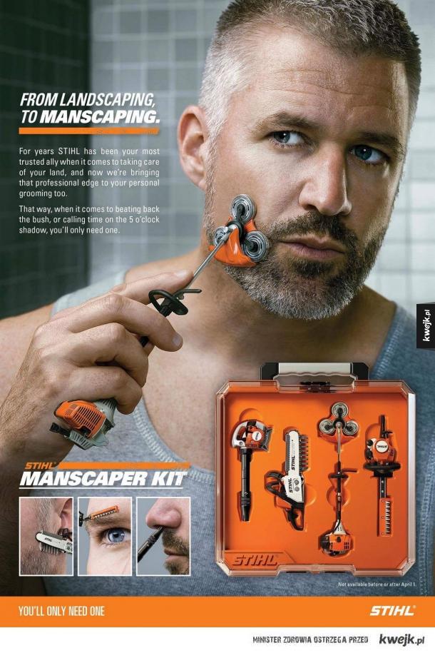 Zestaw do golenia dla prawdziwego mężczyzny