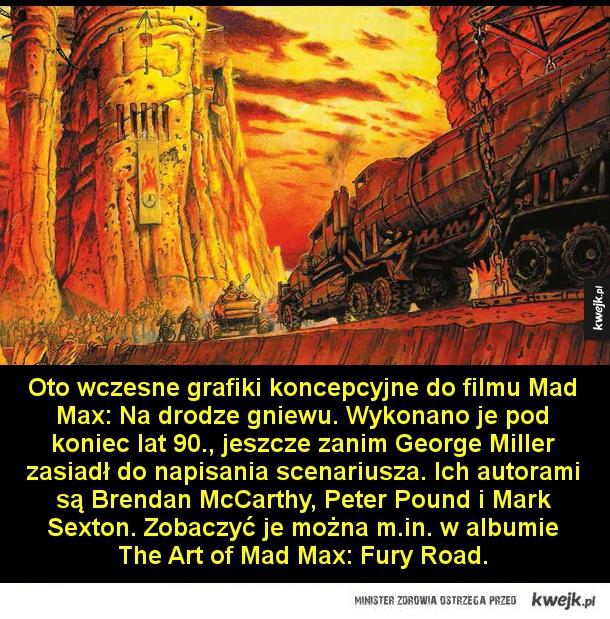 Mad Max na wczesnych grafikach koncepcyjnych