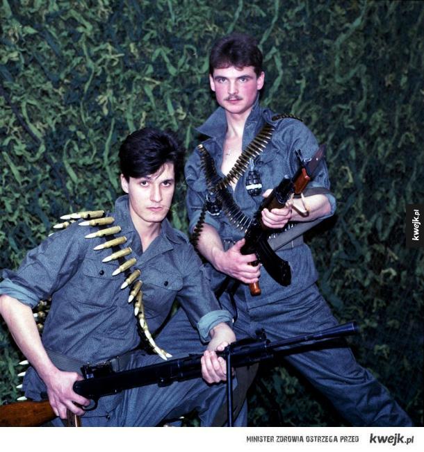 Fotografie z lutego 1991 wykonane do plakatu promującego Wojsko Polskie