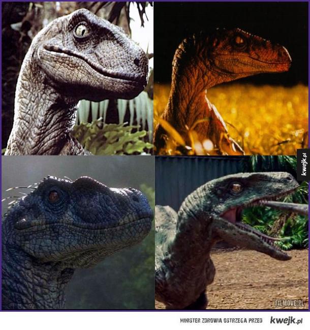 Verlociraptory ze wszystkich części Jurassic Park