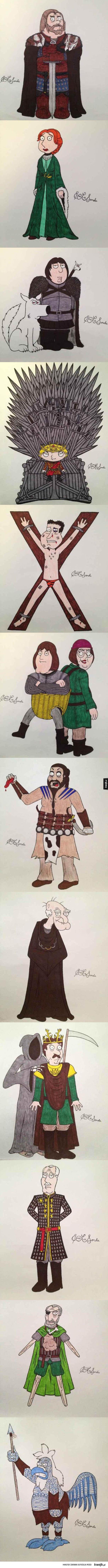 Family Guy z Westeros - family guy, gra o tron, westeros