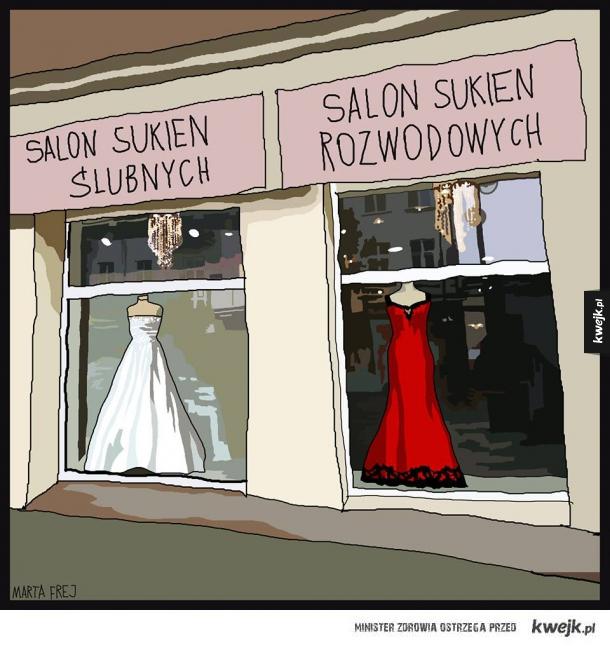 Suknie ślubne vs suknie rozwodowe