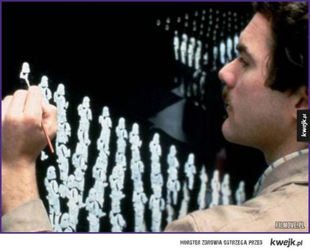 Chris Evans maluje scenę wykorzystaną później w Powrocie Jed