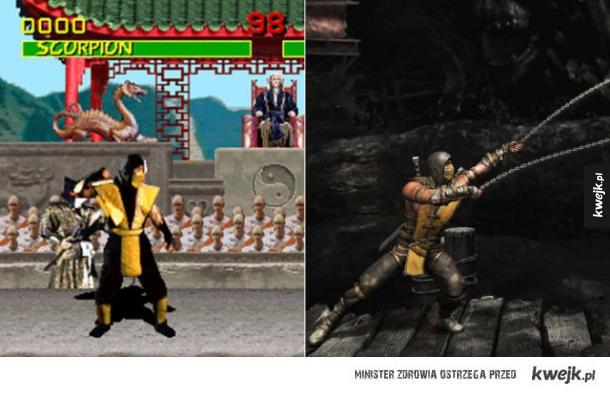 Postacie z gier komputerowych kiedyś i dziś