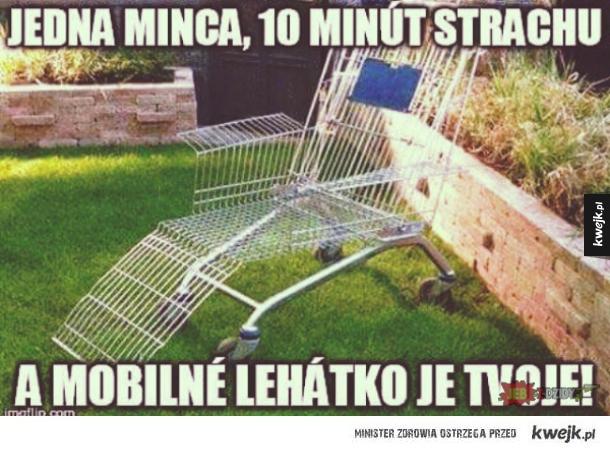 Mobilny leżak