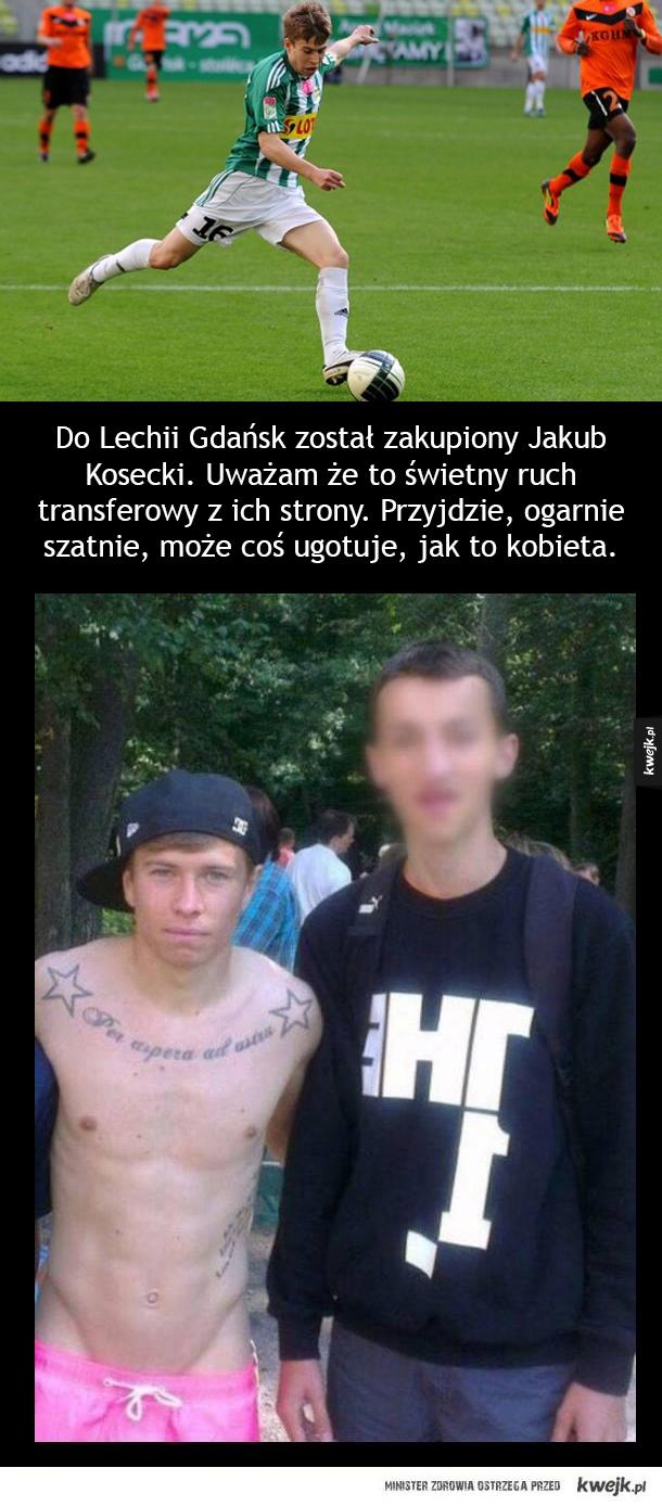 Kosecki przechodzi z Legii do Lechii...