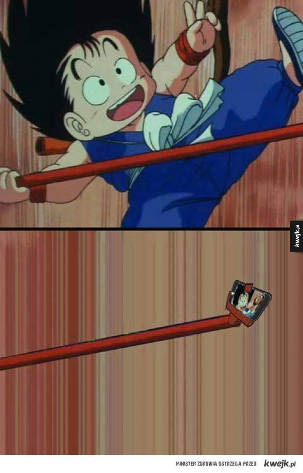 Selfie Stick w Dragon Ballu!