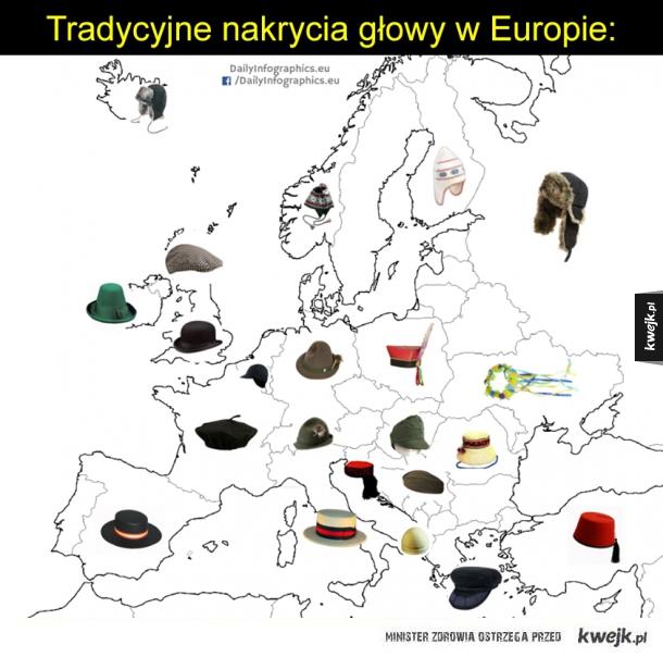 Mapa z czapkami