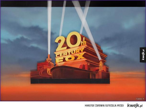 Logo 20th Century Fox - oryginalny obraz na szkle autorstwa Rocky'ego Longo