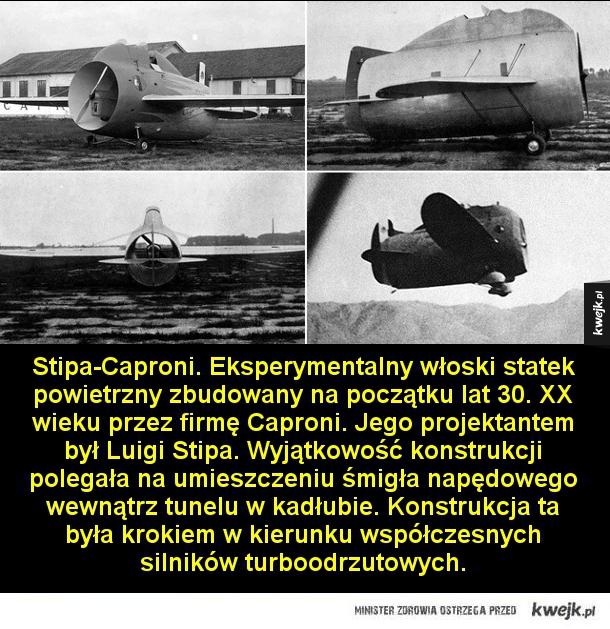 Najdziwniejsze maszyny, jakie kiedykolwiek wzbiły się w powietrze - Miles M.39B Libellula. brytyjski samolot eksperymentalny z podwójnymi skrzydłami i dwoma silnikami. Miał pełnić rolę bombowca, jednak jego osiągi okazały się niewystarczające. Stipa-Caproni. Eksperymentalny włoski statek powietrzny zbudowany na początku la