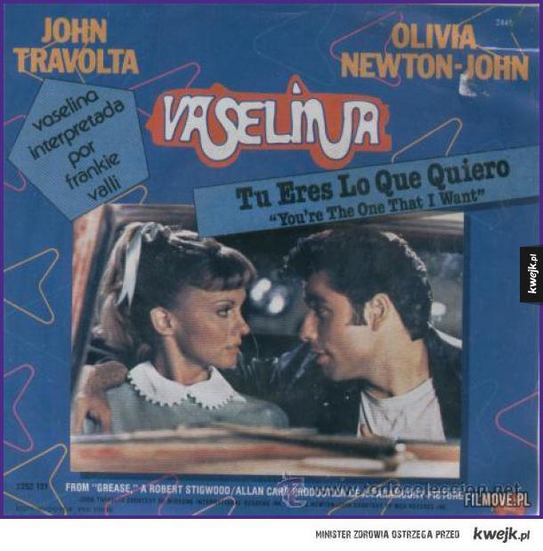 W Meksyku i Wenezueli film Grease ukazał się pod tytułem Wazelina