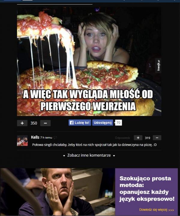 Nikt nie oprze się pizzy!